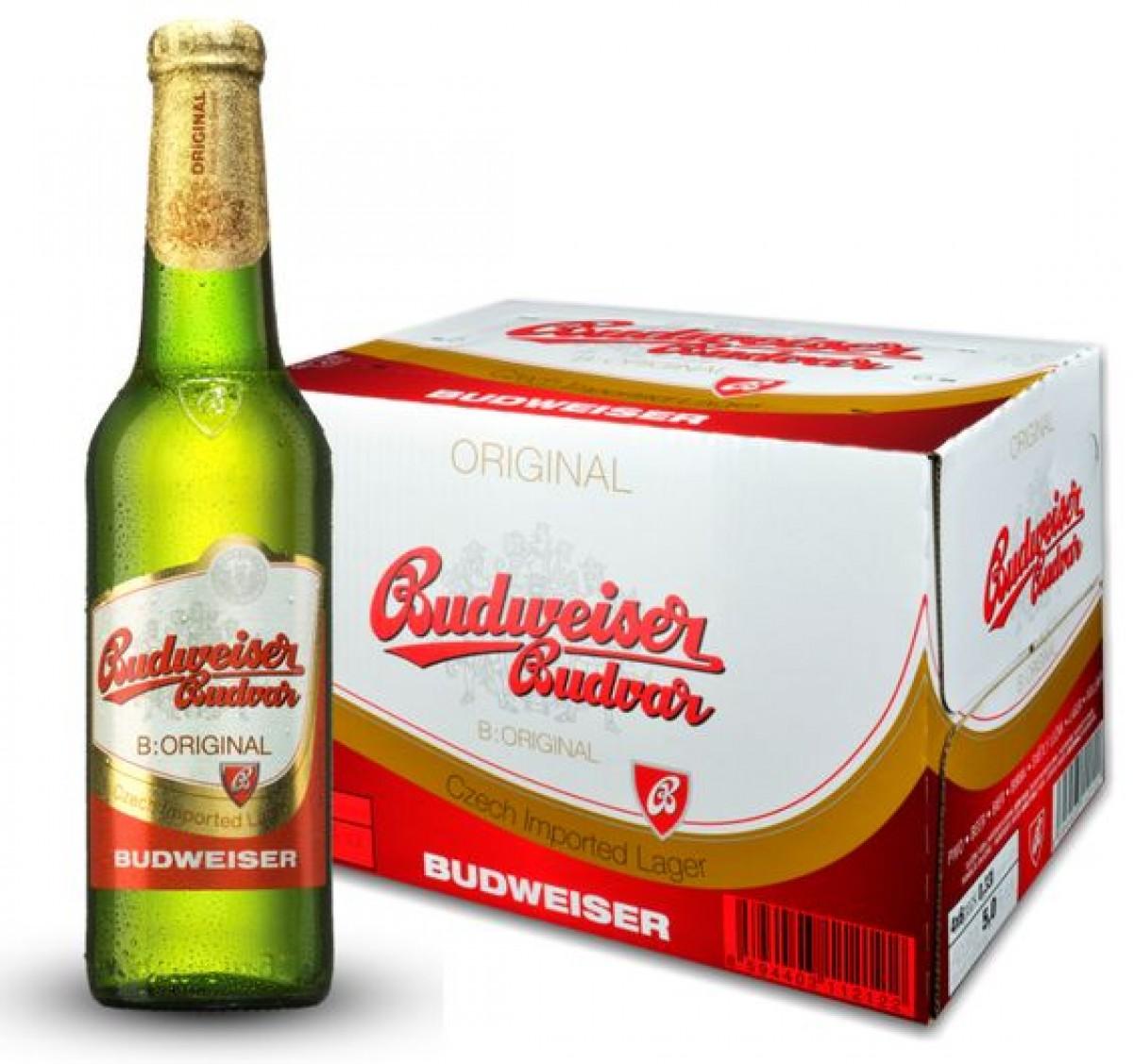 Bia Budweiser Budvar Original 5%-Chai 330ml