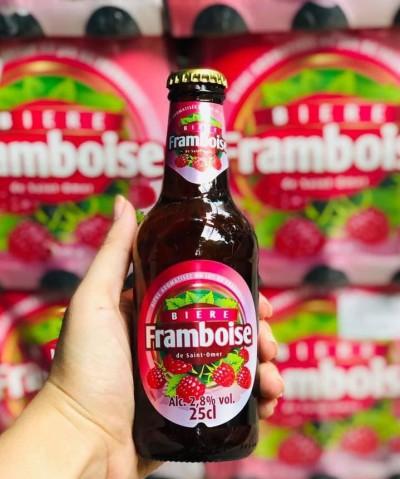 Bia Saint Omer Framboise 2.8%-Chai 250ml