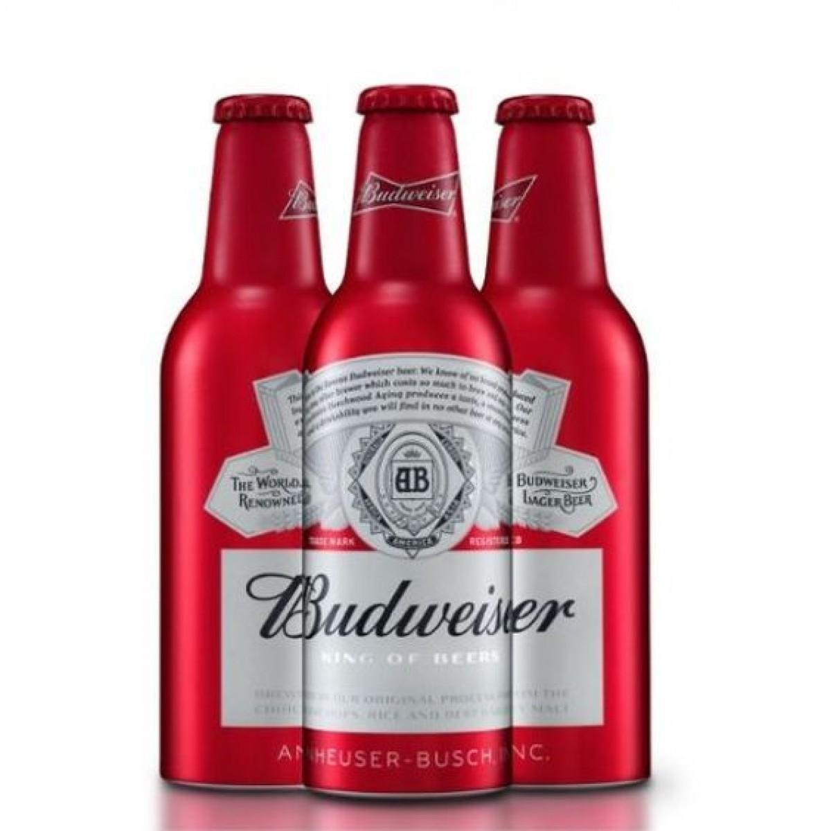 Bia Budweiser Mỹ liên doanh 5%-chai nhôm 355ml