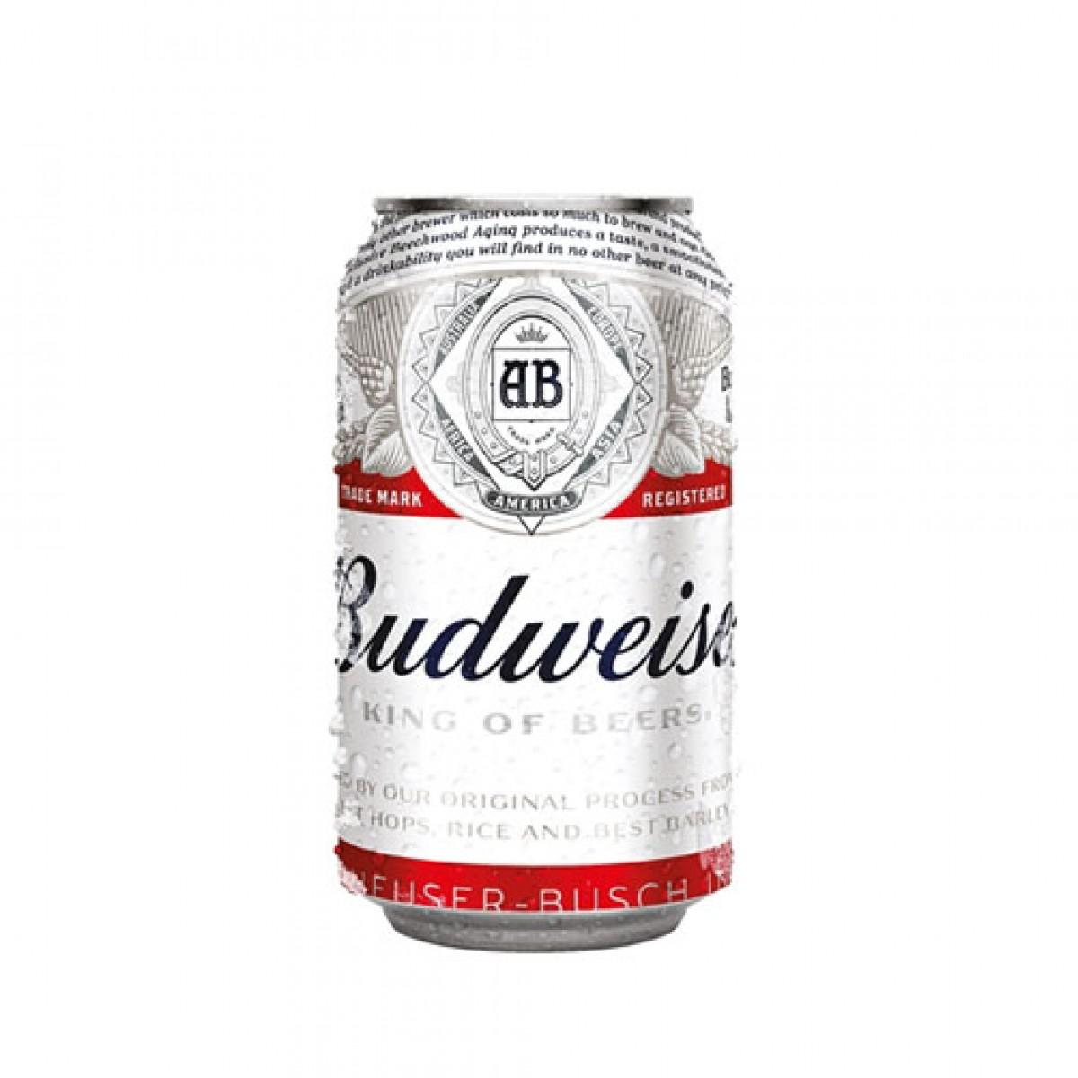 Bia Budweiser 5%  - lon 330 ml