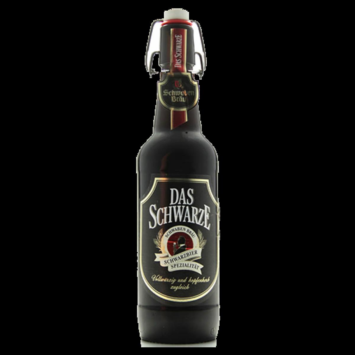 Bia Schwaben Bräu Das Schwarze 4.9%-Chai 500ml