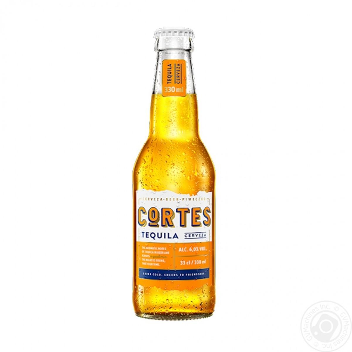 Bia Cortes Tequila 6%-Chai 330ml