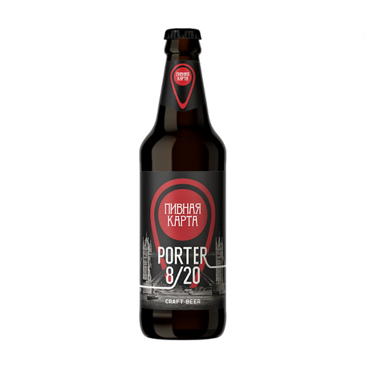 Bia Porter 8/20 8.5% – Chai 500ml