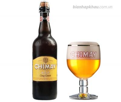 Bia Chimay trắng 8% - chai 750ml