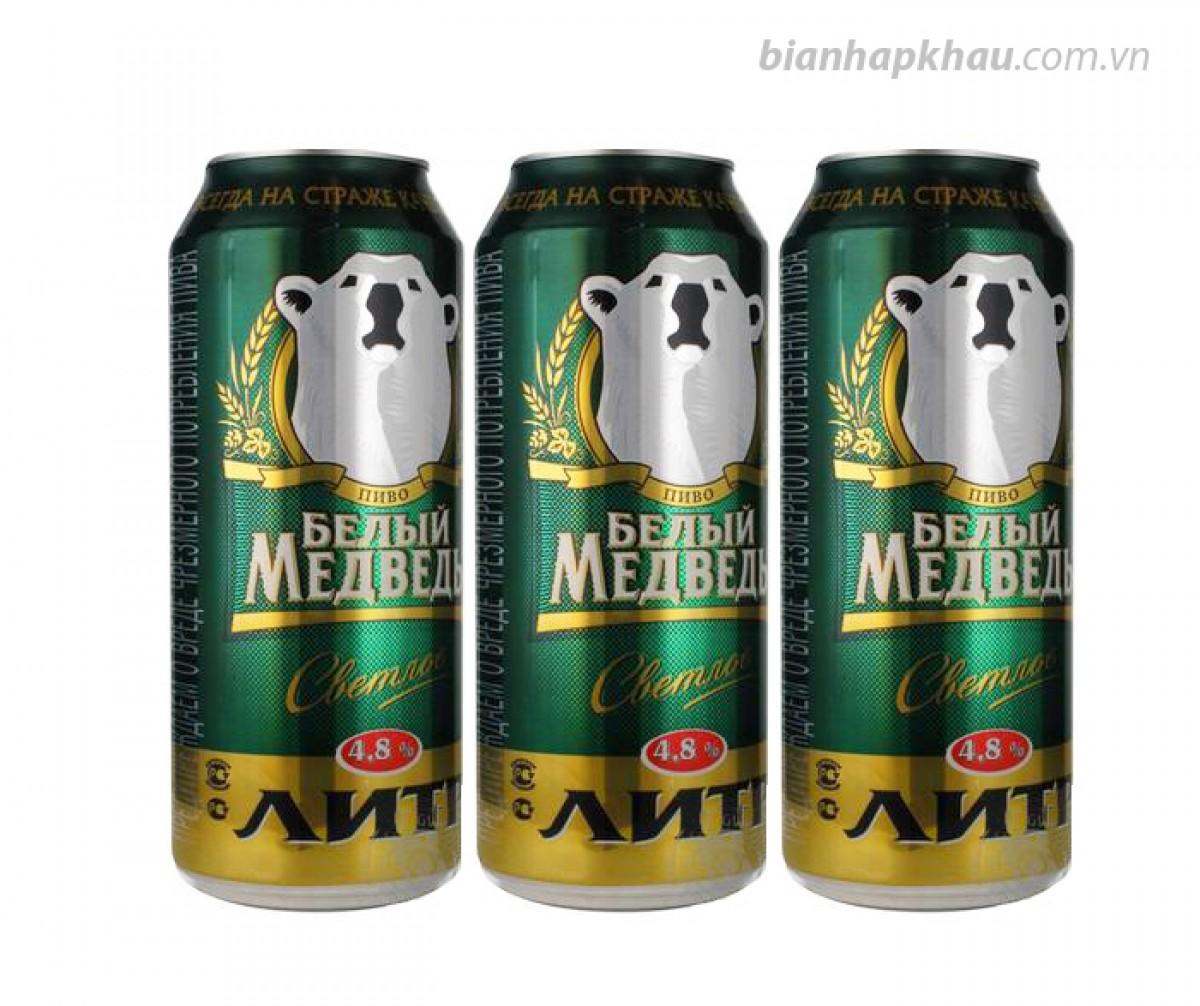 Bia Gấu Sáng 4,8% - lon 1 lít.