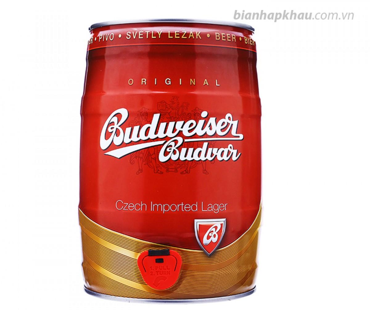 Bia Budweiser Budvar Original 5% - bom 5 lít