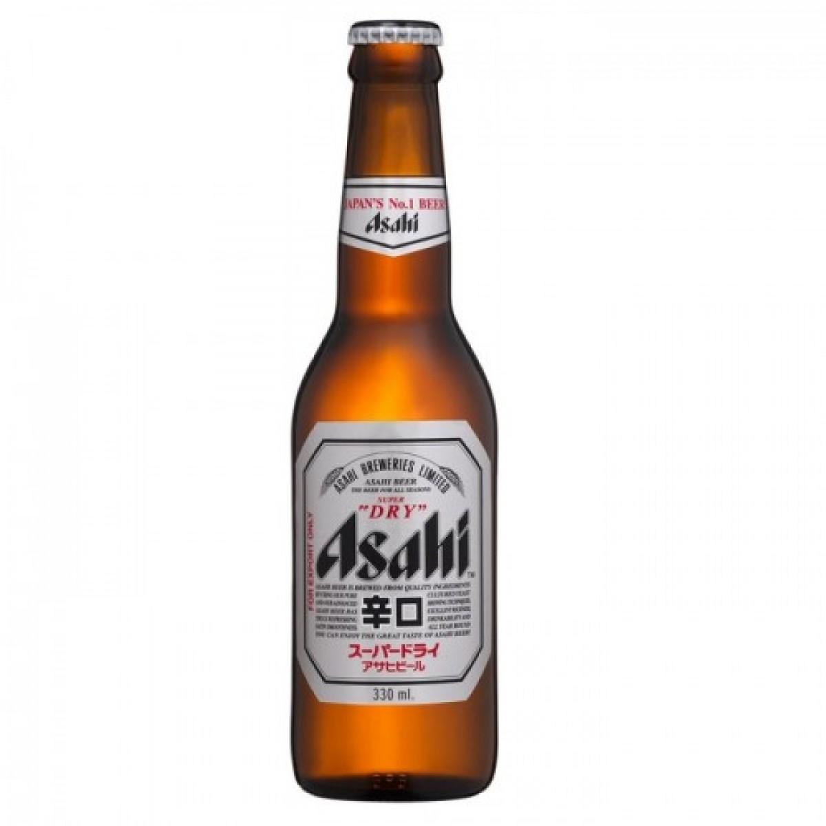 Bia Asahi Nhật Bản 5% - chai 330ml