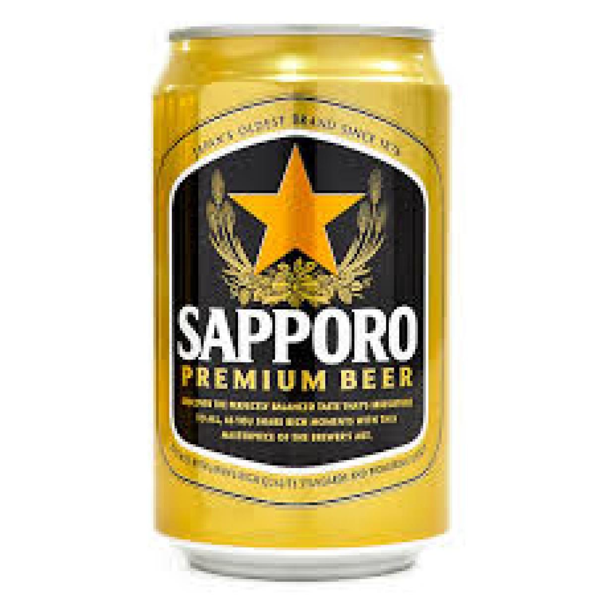 Bia Sapporo Premium 5% – lon 330ml