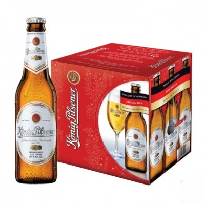Bia Konig Pilsener 4,9% - chai 330 ml