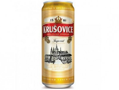 Bia Krusovice Imperial 5% lon cao 500ml