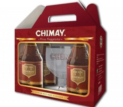 Xách bia chimay đỏ 7% - chai 330ml