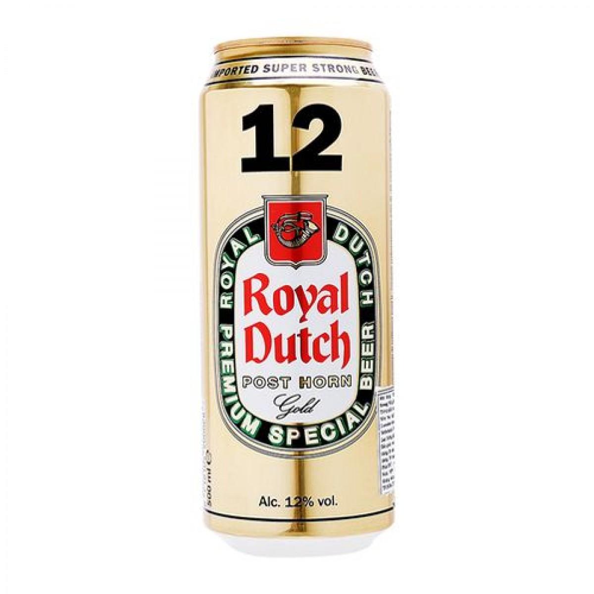 Bia Royal Dutch Gold 12%–lon 500ml