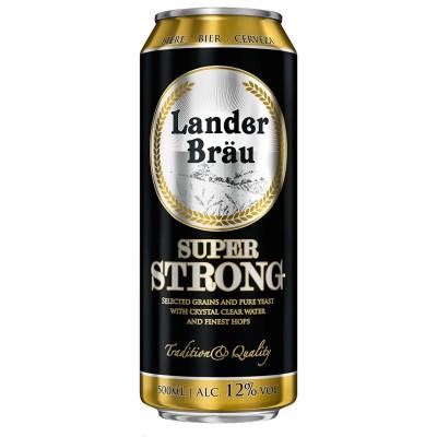Bia Lander Brau Super Strong 12% Hà Lan-lon 500ml