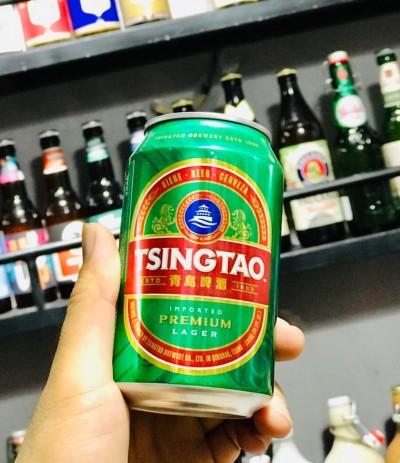 Bia Tsingtao 4.8%-lon 330 ml