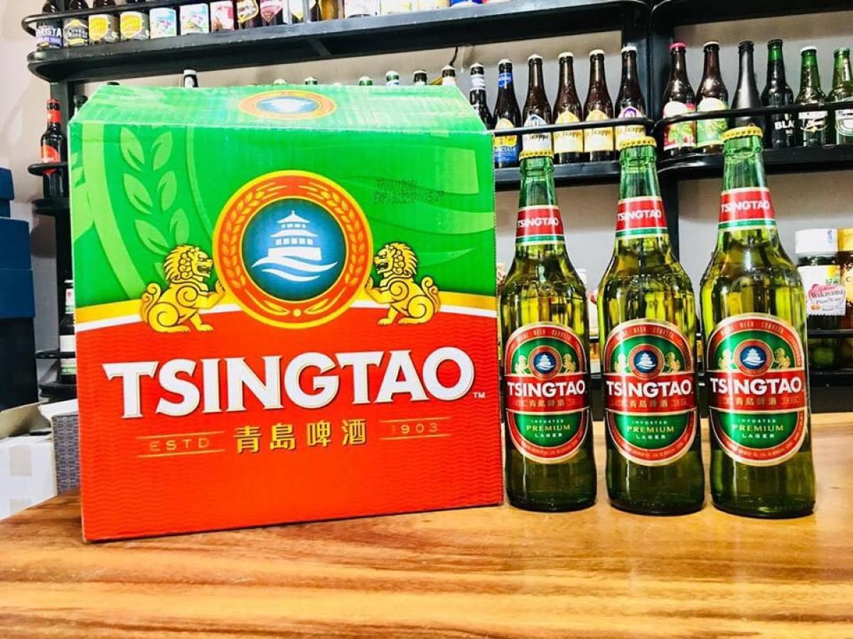 Bia Tsingtao 4.8%-chai 640ml
